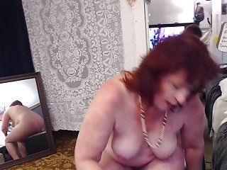 V258 stunning redhaired MILF Dawn in brand new panty parade n juicy cum