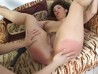 Sexy hairy MILF dominated by mistress femdom BDSM