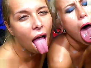Two beautiful babes team up for some serious fucking - Germa