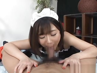 Hibiki Ohtsuki naughty Asian maid in hot POV