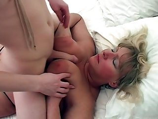 Russian blonde mom