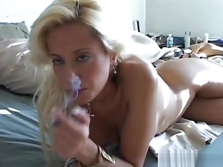 Sexy blonde MILF wishes you were fucking her juicy pussy