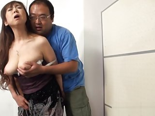 Mature Asian babe has younger guy enjoying her busty figure