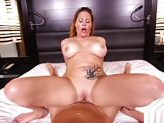 MomPov Kimber - Hot big tits blonde MILF in first porn E426