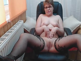 Granny in black Stockings